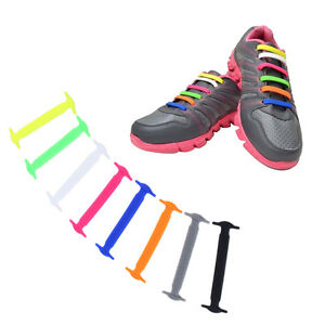 1-Set-16pcs-Novelty-No-Tie-Shoelaces-Elastic-Silicone-Shoe-Lace-Unisex-LOT-9W