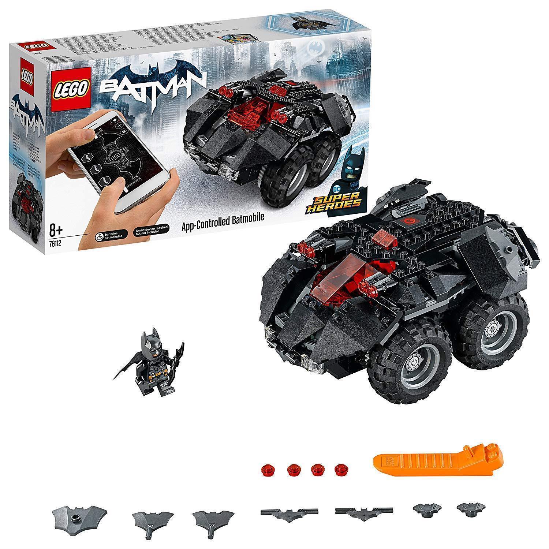 LEGO 76112 DC Comics Batman App Controlled Batmobile Toy Car, Motor PoweROT,