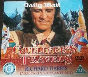 DVD-GULLIVER-039-S-TRAVELS-RICHARD-HARRIS-NEWSPAPER-PROMOTION