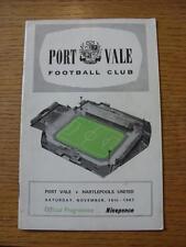 18/11/1967 PORT VALE V Hartlepool United contrassegnati ()