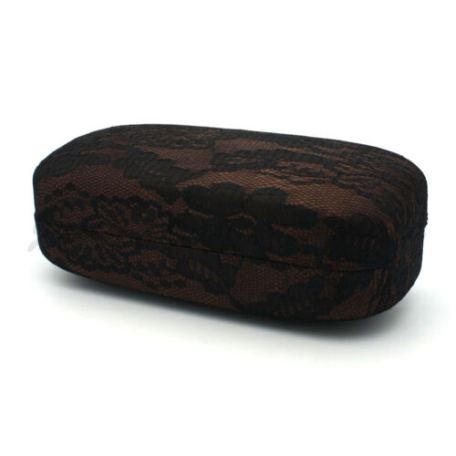 Lace Fabric Covered Rectangle Hardcase for Sunglasses or Eyeglasses