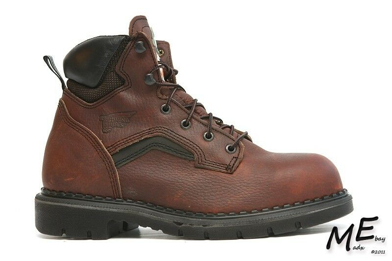 New Rosso Wing 2226  6-inch Uomo Safety  work Boots Sz 6 E2 Leather Brown