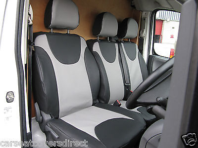 DOUBLE CITROEN DISPATCH ALL MODELS DELUXE BLUE PIPING VAN SEAT COVERS SINGLE