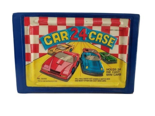 Vintage 24 Car Case Carrier #20150 for Hot Wheels Match Box w/ 24 Cars Included