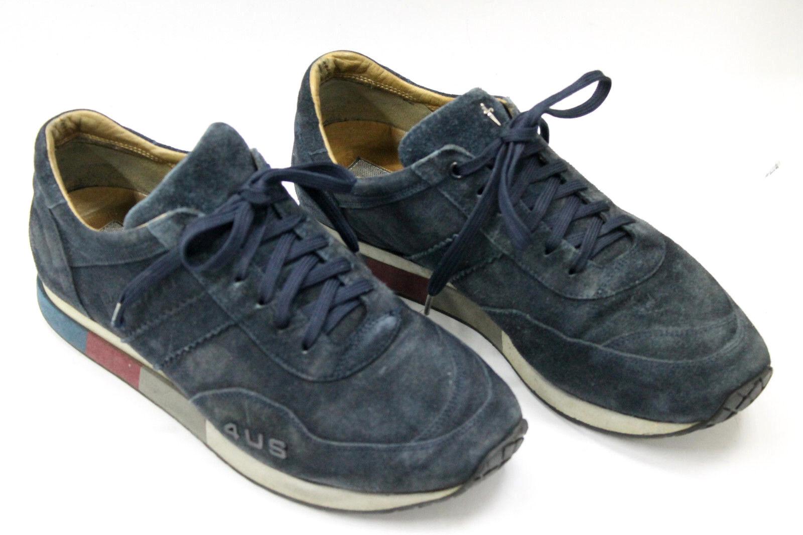 CESARE PACIOTTI Uomo shoes sz 7 Europe 41 blue suede S6928