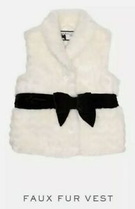 Janie-And-Jack-Kids-Faux-Fur-White-Vest-Christmas-Size-5-6