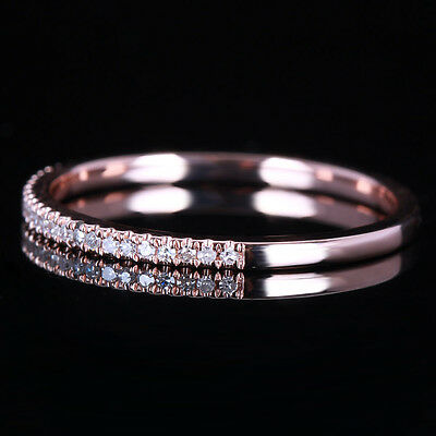 BIG SALE WEDDING BAND RING MATCHING 10K ROSE GOLD .15CT DIAMONDS RING ETERNITY