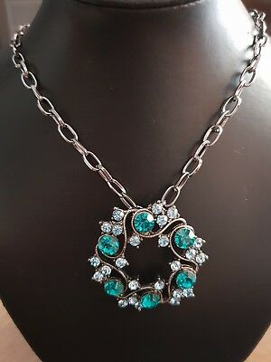 Collier Ras De Cou Fantaisie Acier Et Strass Bleu Refv535 Grade Products According To Quality Crafts