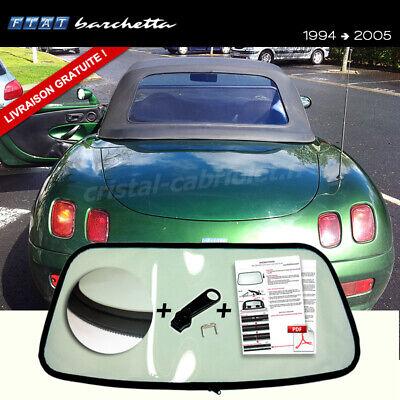 Fiat Barchetta Cabriolet Vitre Arrière Noir avec Fermeture CNC Coupé