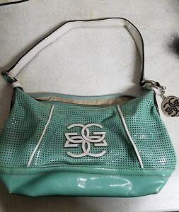 04b932d95193 Image is loading Genna-De-Rossi-Platinum-Collection-Turquoise-Leather- Handbag