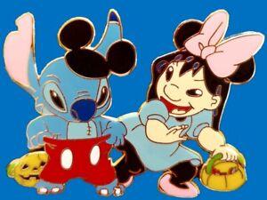 Disney Lilo /& Stitch Halloween Costume as Mickey /& Minnie Fantasy Pin