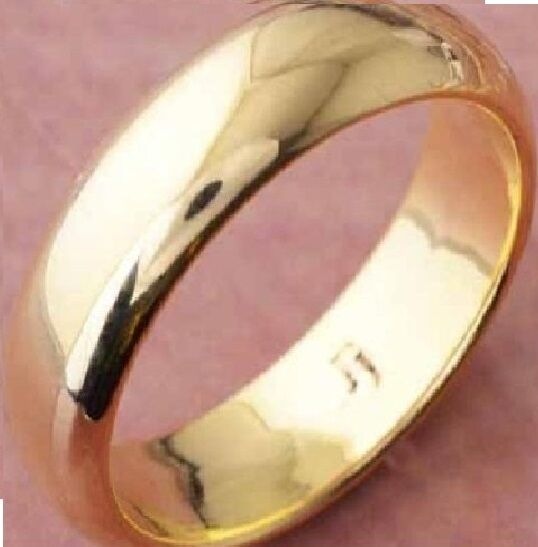 14k Yellow Gold Filled Mens Wedding Band 4mm Wide Engagement Ring P405 Size10 For Sale Online Ebay