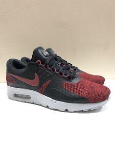 low priced 013c7 d875d Details about New Nike Air Max Zero SE Black Tough Red Platinum Grey Sz 9.5  918232-002