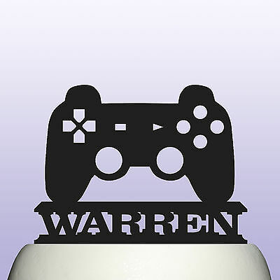 Details About Personalised Acrylic Game Console Controller Birthday Cake Topper Decoration