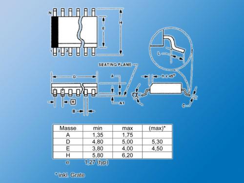 2x Kapazitiver 1-Kanal-Sensor-IC Ee102PEdisen Sensor SystemeSO-8