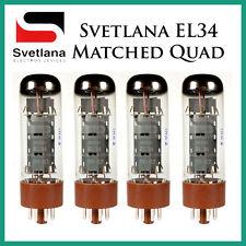 New 4x Svetlana EL34   Matched Quad / Quartet / Four   Power Tubes   Free Ship