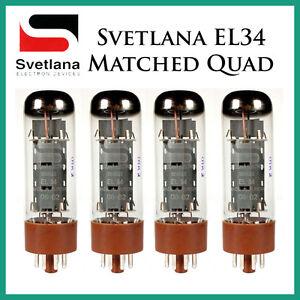 New 4x Svetlana EL34 | Matched Quad / Quartet / Four | Power Tubes | Free Ship