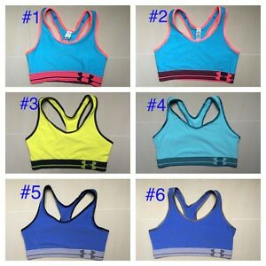 a7fdf7f651fb6 NEW Under Armour Women Sports Bra No Padded Top Gym Yoga Fitness XS ...