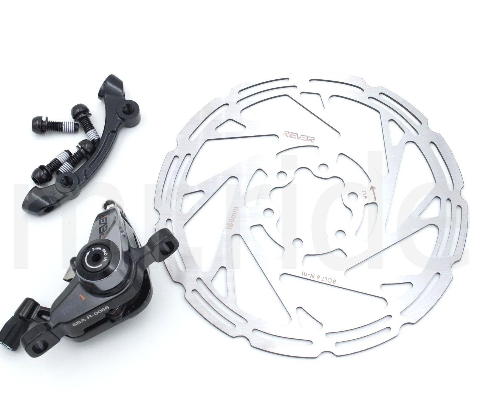 Rever Mechanical Bike CX Rear 160mm Disc Brake Caliper W  redor, IS adapter