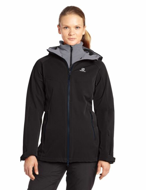 Salomon Womens Snowflirt Jacket 3in1 System Winter Ski Snow Coat Black NEW $300