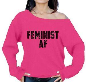 1bb021020 Women's Feminist AF Off Shoulder Sweatshirt Great gifts for Feminism ...