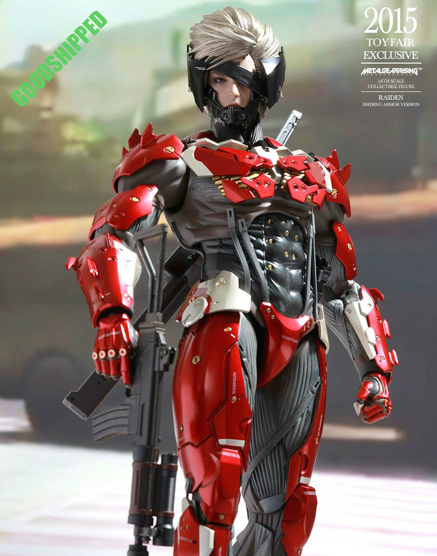 Hot Toys Metal Gear Solid Rising Revengeance Raiden Inferno Armadura Sdcc En Stock