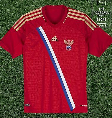 Casa de Rusia Camisa Oficial Adidas Chicos Camiseta De Fútbol todos Los Tamaños | eBay