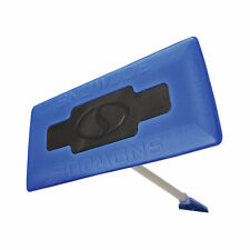 Snow Joe 2-In-1 Telescoping Snow Broom + Ice Scraper | 18-Inch Foam Head (Blue)