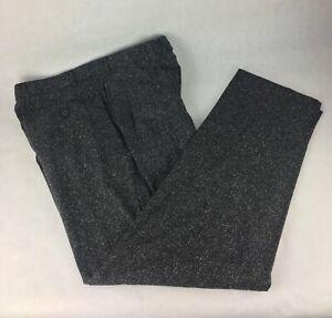 Ermenegildo-Zegna-Dress-Pants-Wool-Silk-Blend-Trousers-Size-52-IT-Size-L-Black