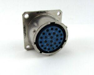 Bendix-LJT00H-17-26S-Conector-Hermetico-26POS-Oro-Soldador-Contactos-NOS