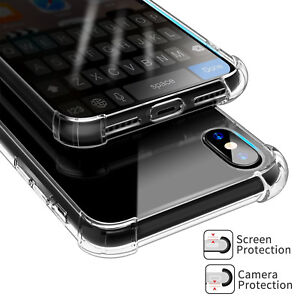 iPhone-X-6-7-8-8-Plus-Clear-Case-Hybrid-Slim-Shockproof-Soft-TPU-Bumper-Cover