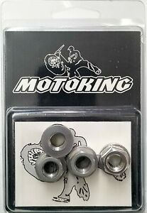 """Old school BMX style bicycle acorn axle nuts 3//8/"""" X 26T SET OF 4 BLUE"""