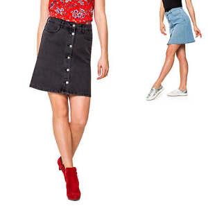 Gewidmet Only Damen Jeans Rock Minirock Mit Knopfleiste Used-waschung Jeansrock Denimrock Kleidung & Accessoires