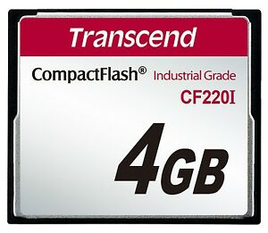 4GB-Transcend-Industrial-Temperature-Range-CF220I-220X-Ultra-CompactFlash-SLC