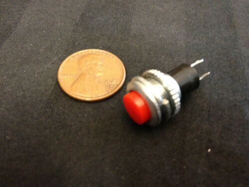 1x Momentary PUSH BUTTON SWITCH DC RED 10mm n/o car on/off DS-316 5A 125VAC b8