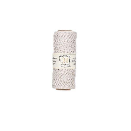 62.48m WHITE hemp cord hemptique 1mm Diameter 20 Pound Test 205 ft