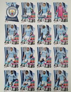 2020/21 Match Attax UEFA Champions League - Manchester City team set (16 cards)