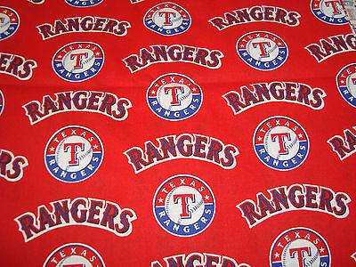 "Fanartikel GüNstiger Verkauf Texas Rangers Baseball Mlb Rot Design Baumwolle 13 "" X 12 ""/ Yardage Neu"