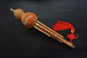 100% Artisanat Hulusi Standard Flûte Chinoise  + Coffret + Guide à Jouer #103