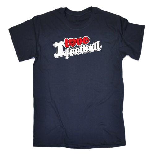 Funny Novelty T-Shirt Mens tee TShirt I Love Football Stencil