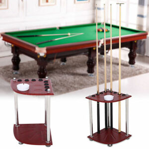 Cheap Economical Timber Pool Snooker Billiards WALL Cue RACK Holder 6 x Cues