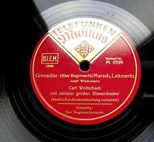 1727/ CARL WOITSCHACH-Grenadier-42er Regiments Leitmeritz Marsch-78rpm Schellack