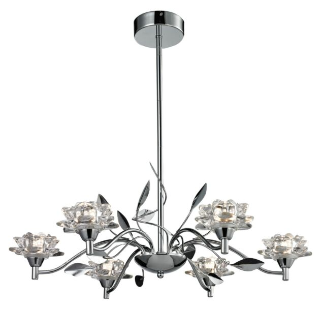 TP24 Piccadilly Ruislip 6x3W LED pendentif chrome verre lumière plafond