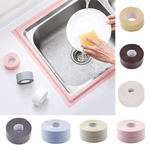Rubber Adhesive Waterproof Kitchen Bathroom Sealing Tape Sink Caulk Strip Corner