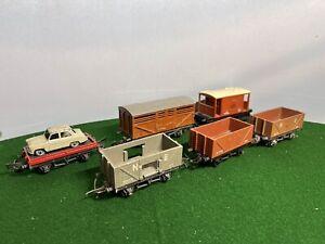 6 Triang OO gauge goods wagons for model railway