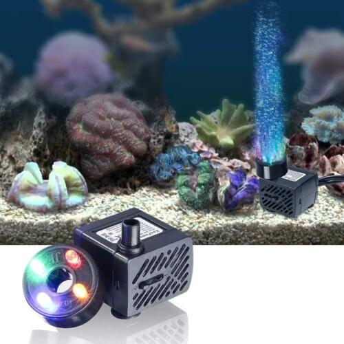 3.5 W escamotable Plongée-Pompe à eau sous l/'eau Aquarium Pompes avec 4 DEL-Lumière