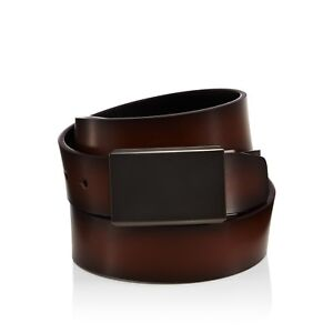 7ff2609d1dc  175 BLOOMINGDALE S Men s BROWN BLACK REVERSIBLE BOX FRAME BUCKLE ...
