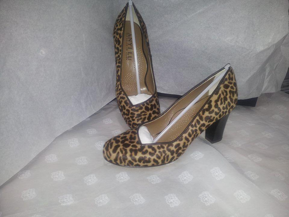 Schuhe Damenschuhe 37 Decoltè Anyi Lu MADE Leopardata Tacco Woman Schuhes MADE Lu ITALY Schuhe 70c6c4
