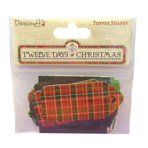 """DOVECRAFT PACK 80  PLASTIC BUTTONS  /""""12 DAYS OF CHRISTMAS/"""""""