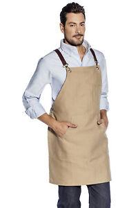 Grembiule Cucina Bar Cuoco Uomo Donna Lavoro Cameriere Sommelier ... f4629ed4a573